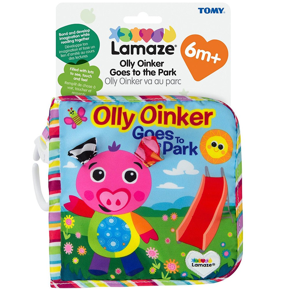 Toys For Babies Educational Planet Hey Baby My Frist Book Softbook Lamaze Olly Oinker Goes To The Park Soft