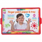 Finger Paint Paper and Tray Toddler Art Set