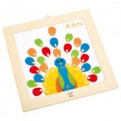 Peacock Wooden Frame Kids Embroidery Kit