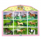 Horse Lover's Collection - 10 Toy Figurines Shadow Box Set