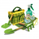 Kids Garden Tools & Accessories Set in a Tote