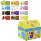 Animal Colors 12 Puzzles Set in a Gift Trunk