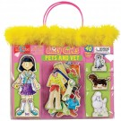 Daisy Girls Pets and Vet Wooden Magnetic Dress-Up Dolls Set