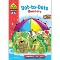 Dot-to-Dots Numbers Activity Workbook - 32 Pages