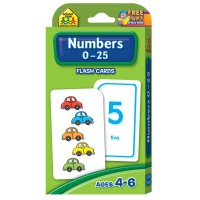 Numbers 0-25 Flash Cards