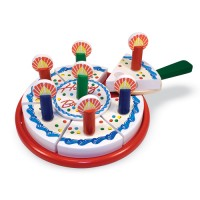 Toy Birthday Party Cake Wooden Playset