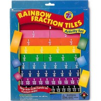 Rainbow Fraction Tiles Math Set