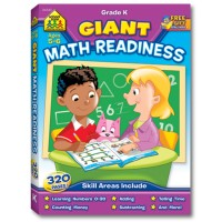 Giant Math Readiness 320 pages Grade K Workbook