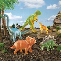 Jumbo Dinosaurs Dino Figurines 5 pc Playset