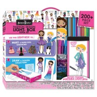 Fashion Design Light Box Travel Super Set for Girls