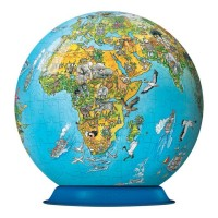 Illustrated World Map - 270 pc Puzzleball