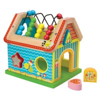 Sort & Count Wooden House Activity Toy