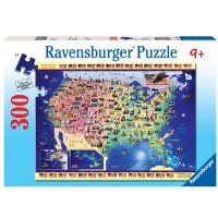USA Map 300 pc Puzzle