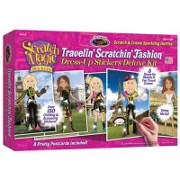Scratch Magic Stickers Traveling Fashion Deluxe Art Kit