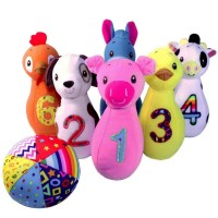 Baby Farm Animals Bowling Playset