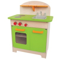 Gourmet Play Wooden Green Kitchen
