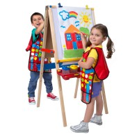 Magnetic Kids Artist Adjustable Wooden Easel