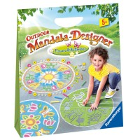 Outdoor Mandala Designer Chalk Art Kit - Flowers & Butterflies