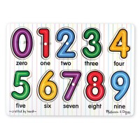 See Inside Numbers Peg Wooden Puzzle