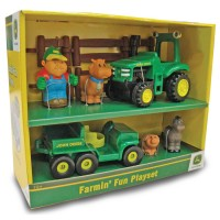 John Deere 12 pcs Farm Vehicles Fun Toddler Playset
