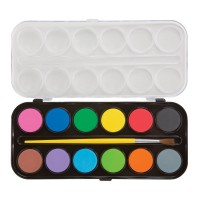 Jumbo Watercolors 12 Paints Set