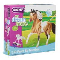 3D Paint by Number Pinto Horse Model Craft Kit