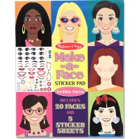 Make a Face Sticker Pad Fashion Faces