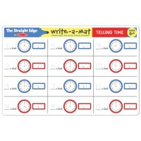 Telling Time Write-on Learning Placemat