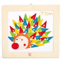 Hedgehog Wooden Frame Kids Embroidery Kit