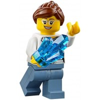 Lego City Volcano Explorers Minifigure Female Scientist With Rock Crystal