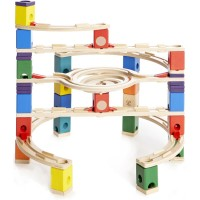 Loop de Loop Quadrilla 129 pc Wooden Marble Run