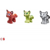 Lego Friends Elves Minifigure 3 Fox Combo Animals Accessory Small And