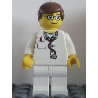 Lego City Hospital Minifigure Lab Doctor With