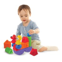 Pop Blocks Train Baby Building Set