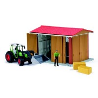 Bruder Bworld Farm Tractor & Shed Building Playset