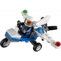 Lego City Mini Figure Police Plane 30018