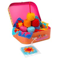 Granny Squares Crochet Girls Craft Kit