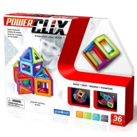 Power Clix 3D Magnetic 36 pc Building Kit