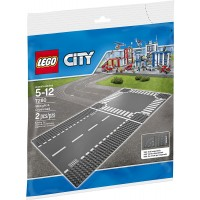 Lego City Supplementary Straight Crossroad 7280 Plates