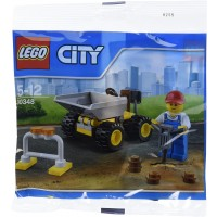 Lego City Mini Dump Truck Vehicle And Construction Worker Minifigure Toy Set 30348