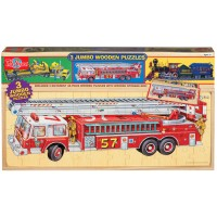 Vehicles 3 Wooden 48 pcs Puzzles in a Box