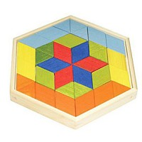 Bamboo Prism Puzzle Wooden Mosaic Set