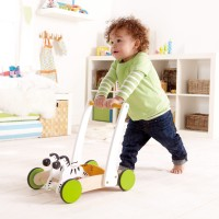 Galloping Zebra Cart Toddler Push Toy