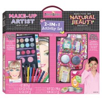 Girls 2-in-1 Fashion Activity Set - Make-Up Artist & Natural Beauty