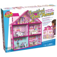 Build and Decorate Furnished Dollhouse Playset