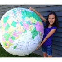 Inflatable Giant 36 Inches Political Globe