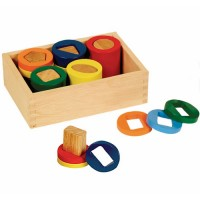 Geometric Counting Cylinders Wooden Learning Activity Toy