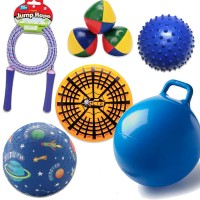 Indoors and Outdoors Physical Activity Set of 6 Fun Toys