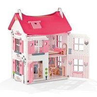 Mademoiselle Pink Dollhouse with Furniture Play Set