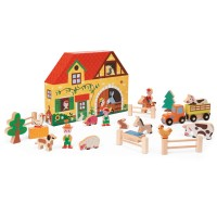 Story Box Farm Pretend Play 23 pcs Wooden Set
